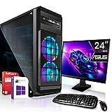 AMD Ryzen 3 3200G 4x4.0GHz Komplett PC-Paket Set mit 24 TFT - Monitor/Tastatur Maus | 16GB DDR4...