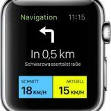 Komoot Navigation auf der Apple Watch