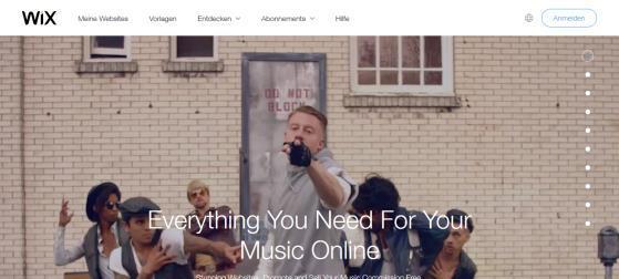 WixMusic Als Musiker bei Wix.com