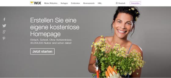 Die eigene Webseite bei Wix.com