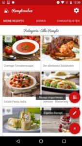 Screenshot 1 aus Rezeptzauber für Android
