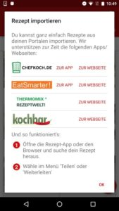 Screenshot 2 aus Rezeptzauber für Android