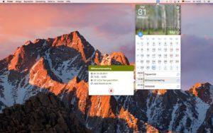 Screenshot miCal für den Mac