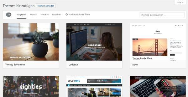 Wie installiere ich ein WordPress Theme?