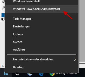 Windows PowerShell starten